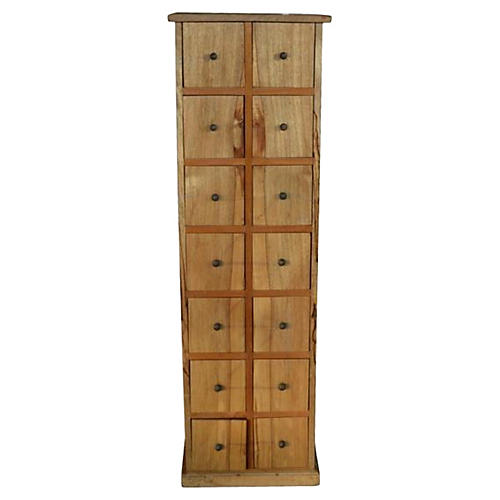 Mango Wood Apothecary Cabinet
