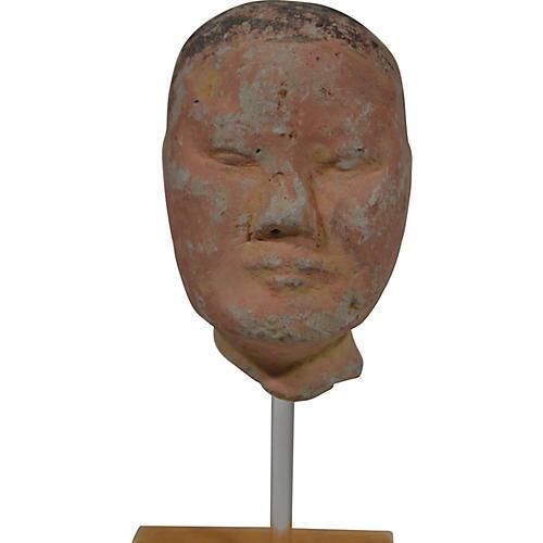 Antique Han Dynasty Terracotta Head