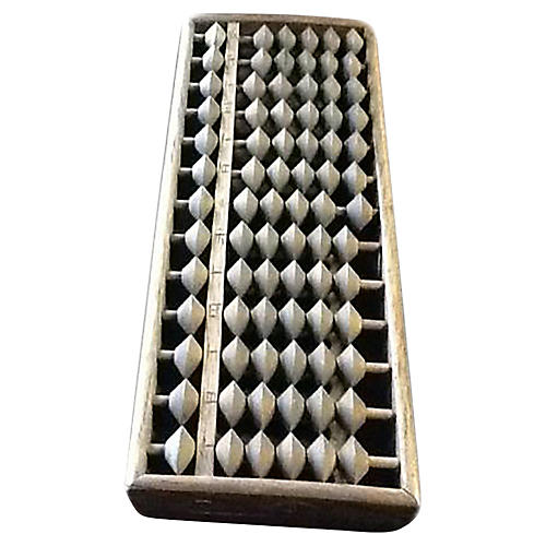 Antique Handmade Wood Abacus