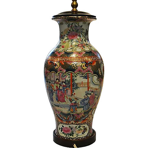 Hand-Painted Chinese Lamp