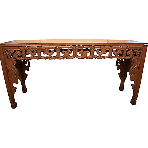 Hand-Carved Javanese Table