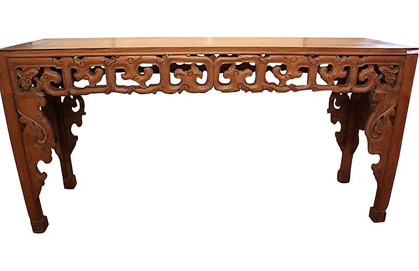Hand-Carved Javanese Table