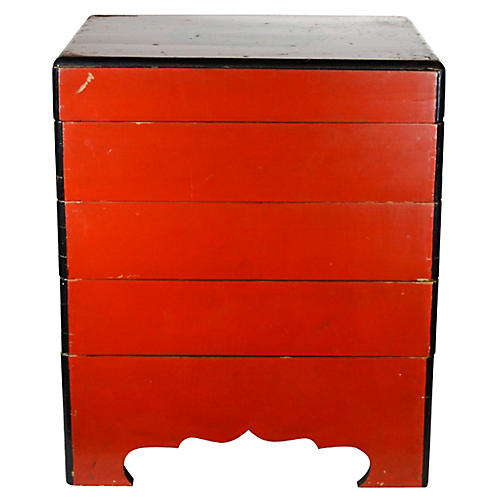 Antique Japanese Layered Bento Box