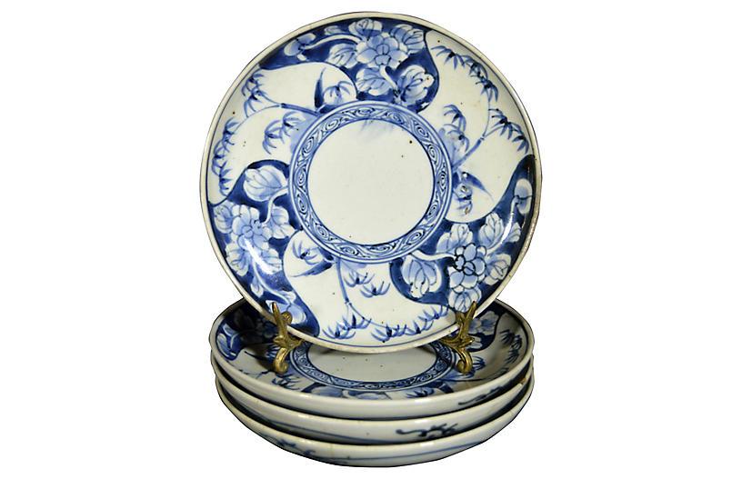 Antique Japanese Imari Plates, S/4