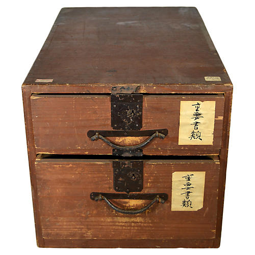 Antique Japanese Apothecary Cabinet