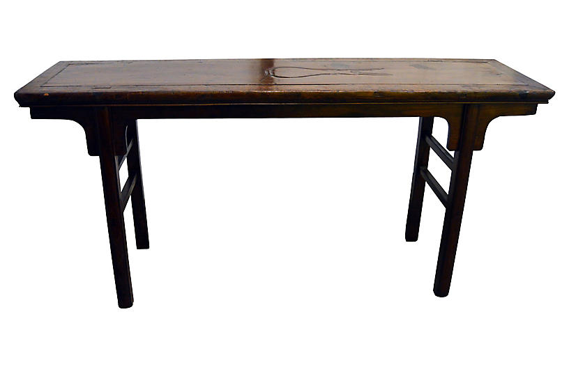 Antique Chinese Altar Painting Table