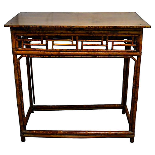 19th-C. Handmade Bamboo Wine Table