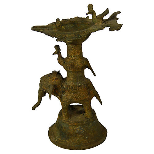 Antique Indian Incense Burner