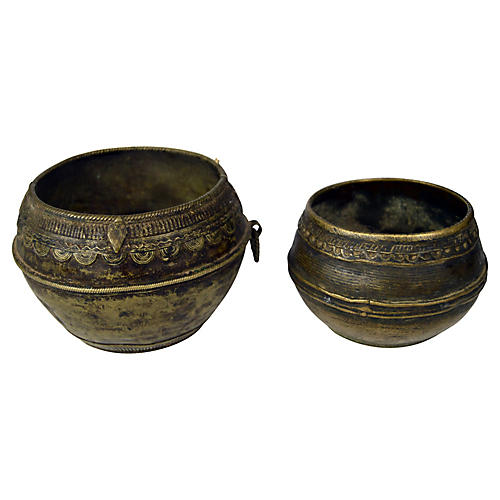 Indian Brass Bowls, S/2