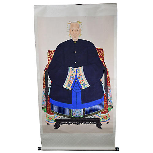 Antique Chinese Ancestors Painting