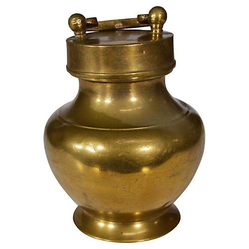 Antique Brass Milk Jar