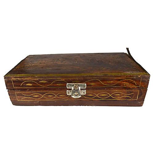 Indian Perfume Box w/ 5 Bottles
