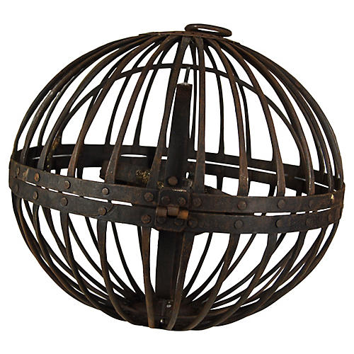 Antique Foucault's Iron Chandelier
