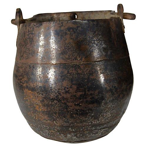 Antique Indian Iron Bucket