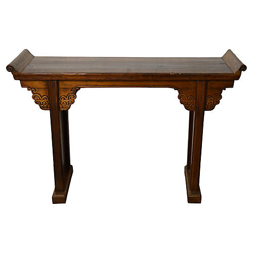 Antique Hand-Carved Altar Table