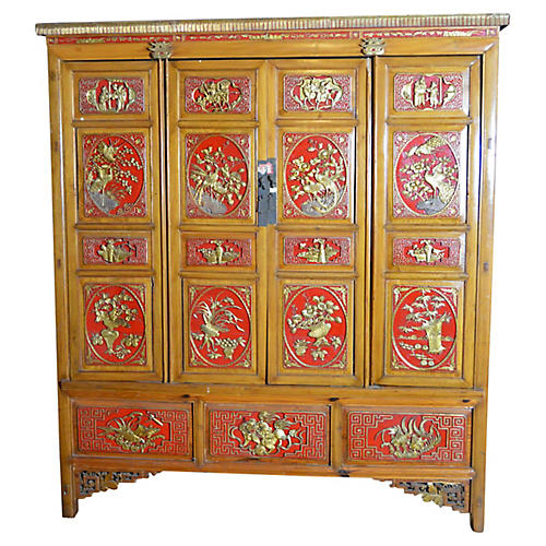 Antique Chinese Wood Armoire