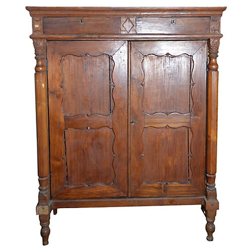 Chinese Dutch-Colonial Lacquered Armoire