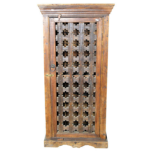 Antique Indian Hand-Carved Cabinet