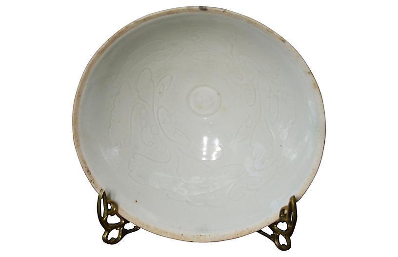 Antique Chinese Celadon Porcelain Bowl