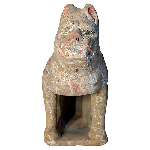 18th-C. Chinese Terracotta Dog