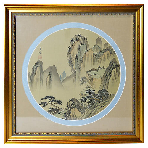 Antique Chinese Framed Painting