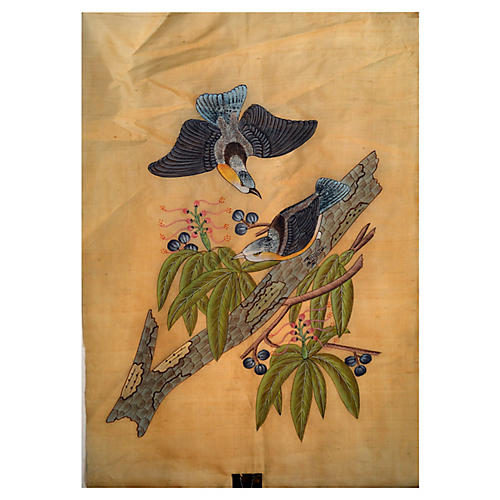 Antique Chinese Bird Painting