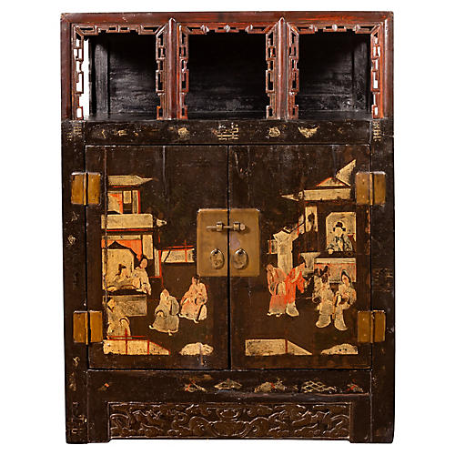 Chinese Chinoiserie Display Cabinet