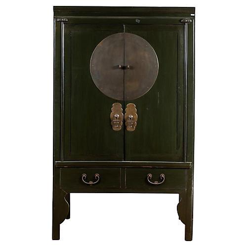 Chinese Dark Green Wedding Cabinet