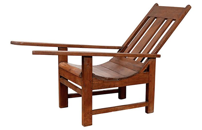 Indonesian Teak Plantation Lounge Chair