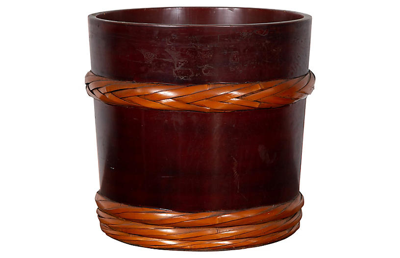 Chinese Wooden Barrel Planter