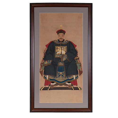 Chinese Ancestral Patriarch Portrait