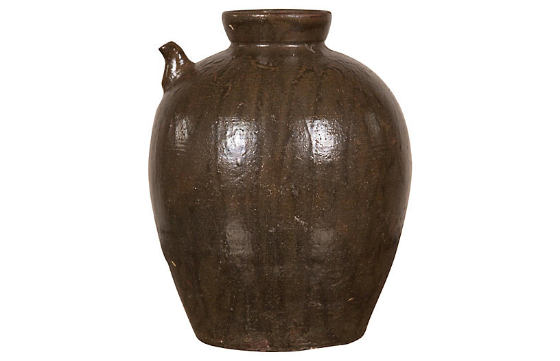 Chinese Qing Dynasty Glazed Water Jug