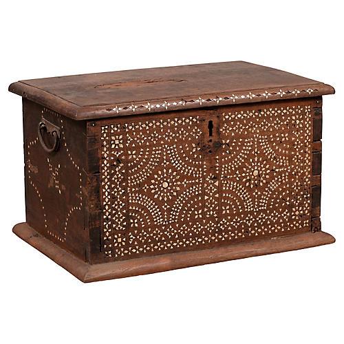 Midcentury Javanese Vintage Wooden Trunk