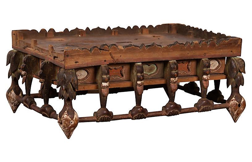 Petite Japanese Edo Folk Art Altar Table