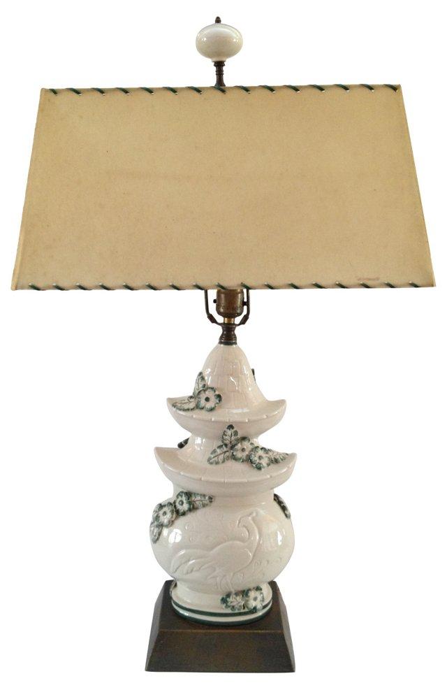 1960s Ceramic Pagoda Lamp