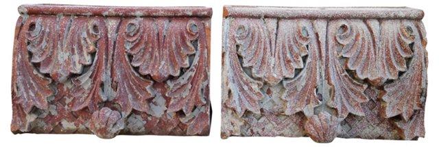 Antique Terracotta Corbels, Pair