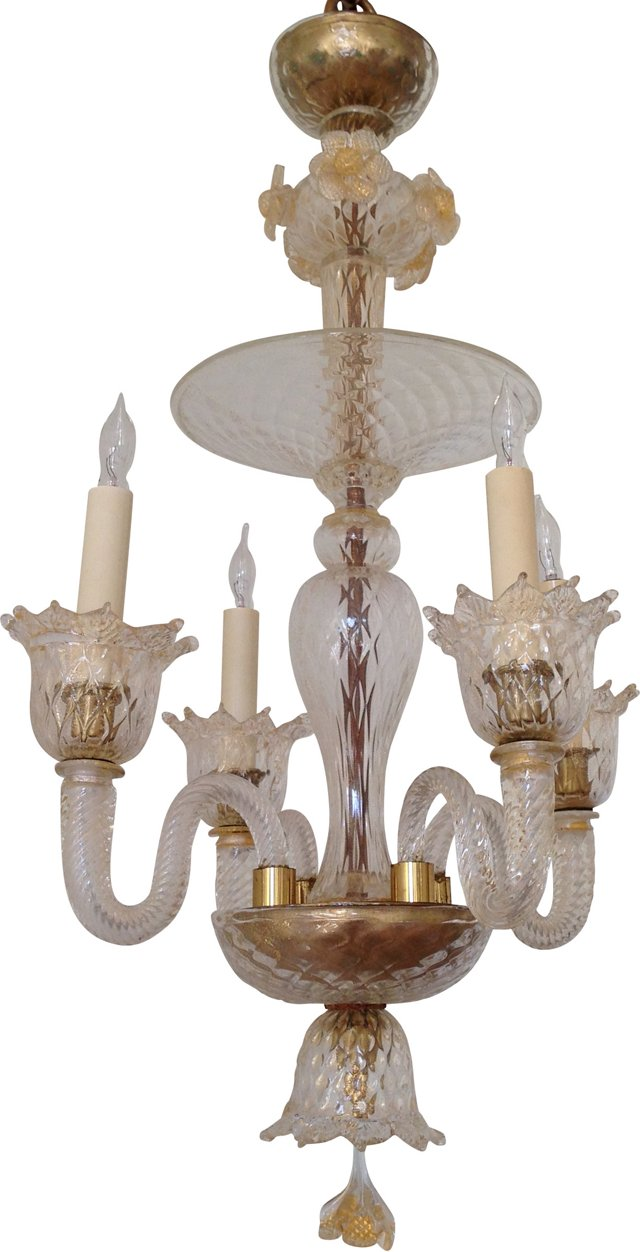 1950s Murano Glass Chandelier