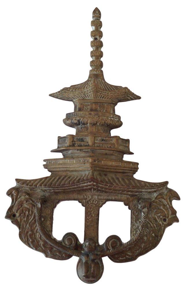 Chinoiserie Pagoda Door Knocker