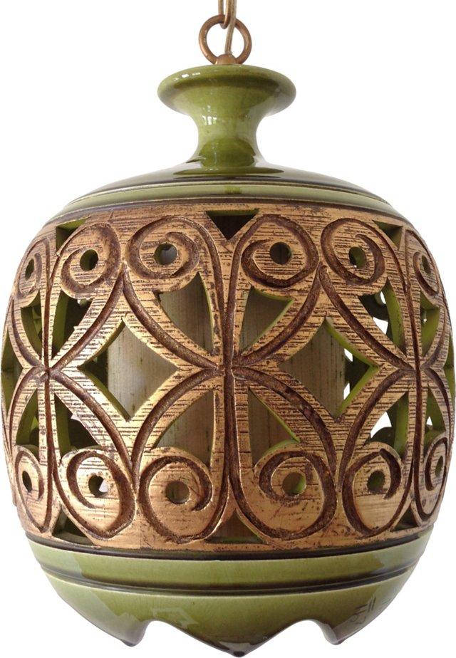 Ceramic Cutwork Pendant