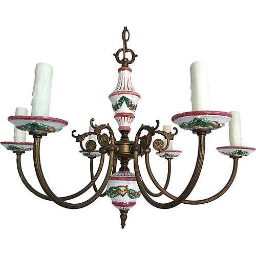 French Porcelain Chandelier