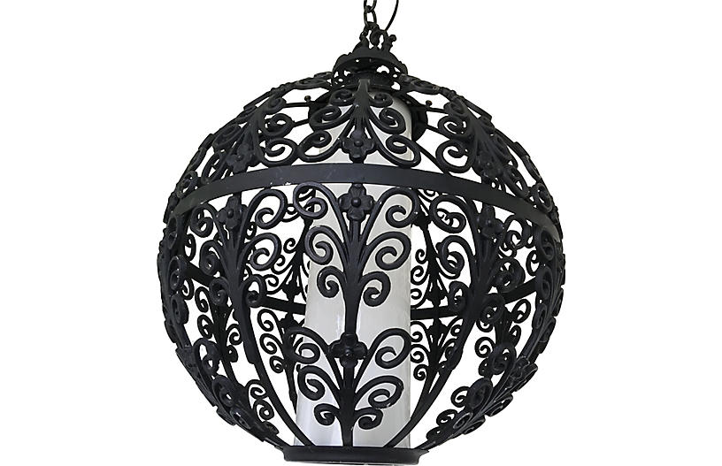 Feldman Iron Globe Pendant