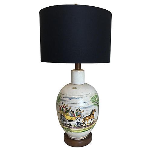 Hand-Painted Italian Lamp