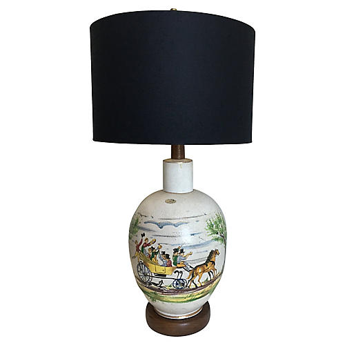 Hand-Painted Italian Lamp