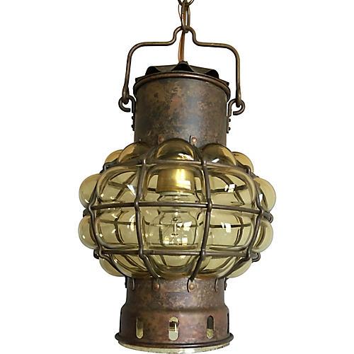 Blown Glass Ship's Lantern