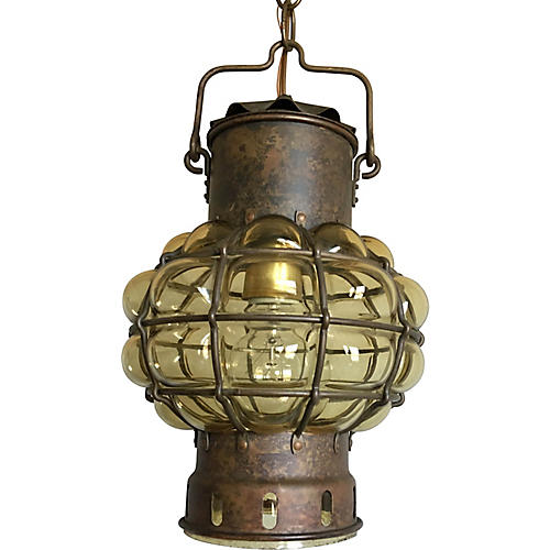 Blown Glass Ship's Lantern