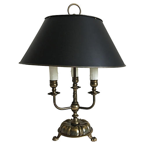 French Bouillotte Lamp w/Shade