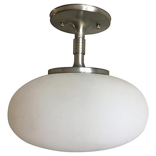 Modern Mushroom Flush Light