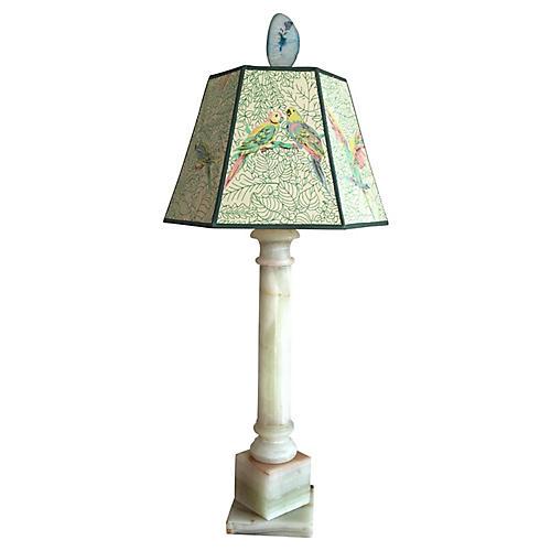 Onyx Lamp & Parrots Shade
