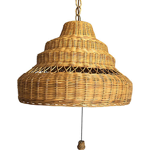 Wicker Sandcastle Pendant Light