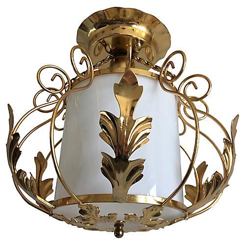 Midcentury Acanthus Lantern